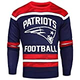 FOCO New England Patriots Ugly Glow In The Dark Sweater - Mens Medium