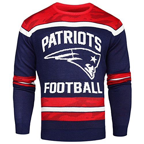 NFL New England Patriots Ugly Glow in The Dark Sweater, XX-Large by Forever Collectibles