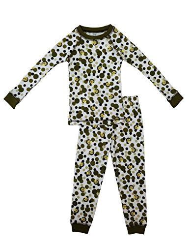 Brian The Pekingese Boys 100  Cotton Pajamas  Brown Polka Dot  Size 3T