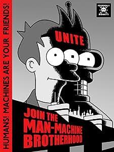 DJ1424 Futurama Fry Bender Man-Machine Cool Art 32x24 Print POSTER