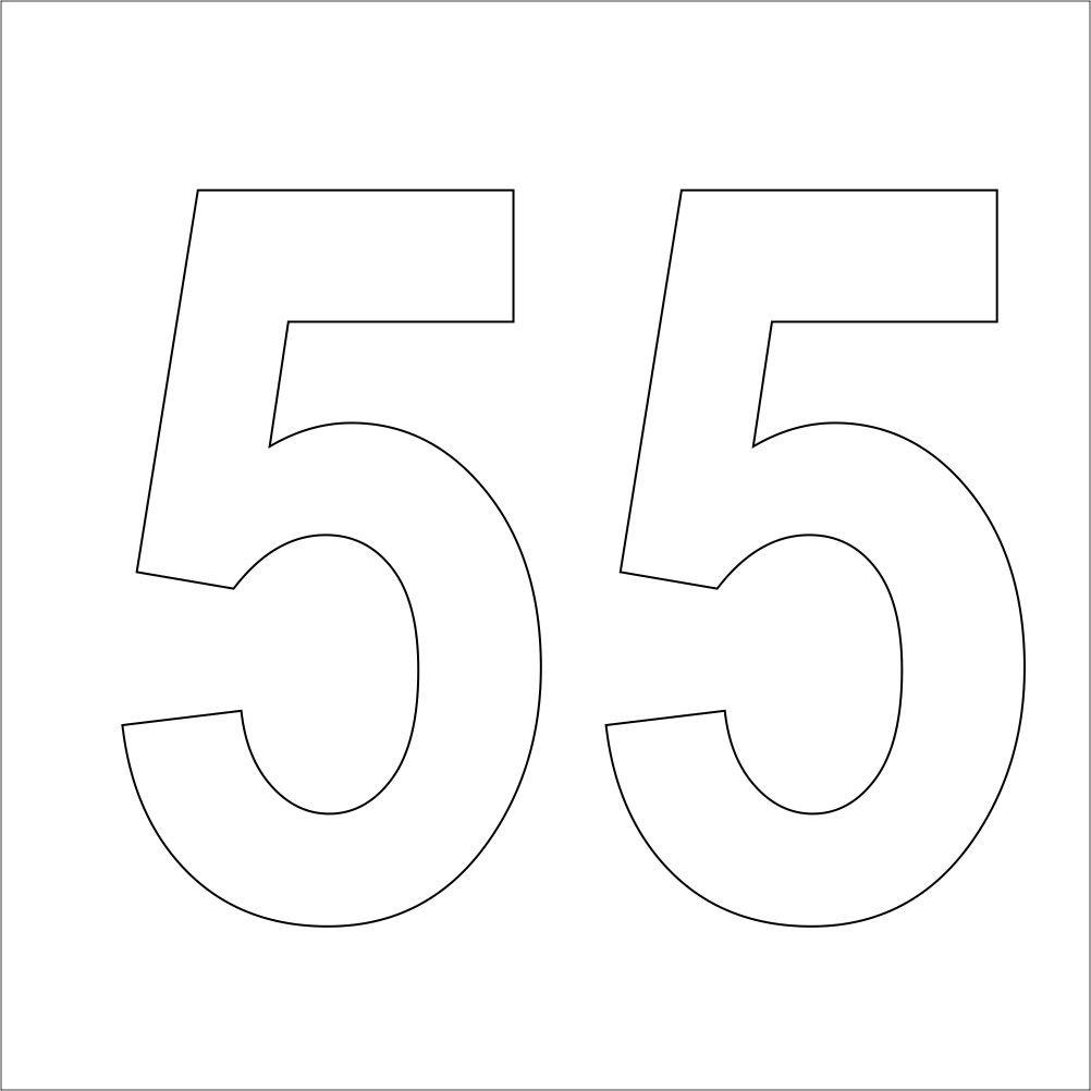 Pegatina Promotion Sl 3 Weiße Hochwertige Zahlen Aufkleber