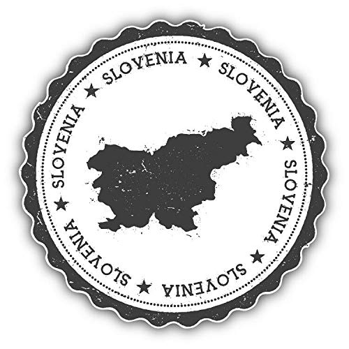 Magnet Slovenia Map Grunge Rubber Stamp Travel Vinyl Magnet Bumper Sticker Magnet Flexible Vinyl Magnetic 5""