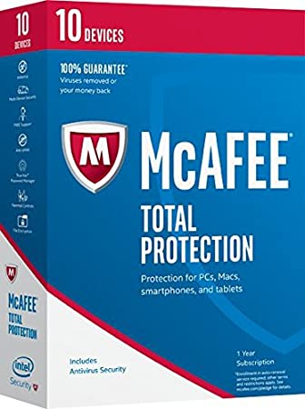 McAfee 2017 Total Protection-10 Devices [Key Code] (10-Users)