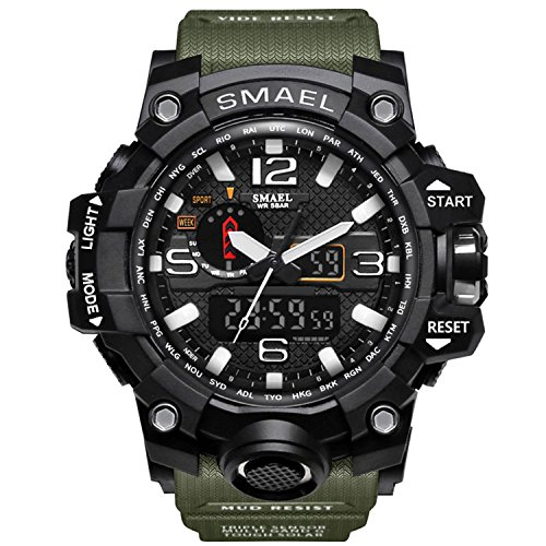 Siniya Men Sports Watch Multi Function Military Watch Date Quartz Stopwatch Masculino Analog LED ()