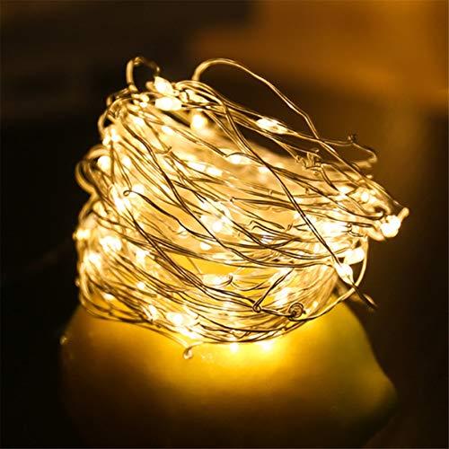 Szaerfa 1M 2M 3M Luces de hadas con pilas LED blanco cálido Cadena de alambre de cobre Luces para boda Festival Fiesta…