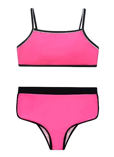 e1d4f0852578 Wantdo Costume da Bagno da Allenamento Sportivo Bambina: Amazon.it:  Abbigliamento
