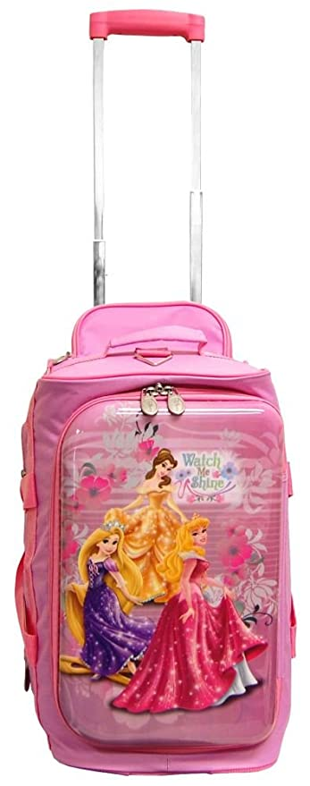 4471cb2d54b0 Disney Luggage by Heys 18 quot  hybrid Rolling Duffel Princess Watch Me ...