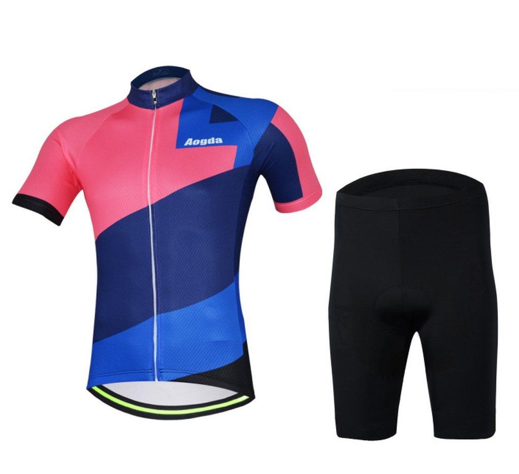 2017 aogda新しいサイクルレーシング服Wearメンズサイクリングジャージークイックドライ通気性バイク半袖ジャケットシャツa703 B072143C6P X-Large|Shorts Set Shorts Set X-Large
