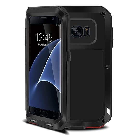 ddccf409698 Amazon.com: Galaxy S7 Edge Case,Tomplus Armor Tank Aluminum Metal Shockproof  Military Heavy Duty Protector Cover Hard Case for Samsung Galaxy S7 Edge ...