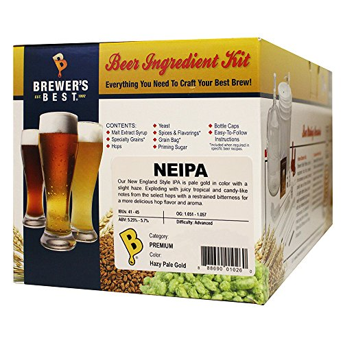 Brewer's Best NEIPA (New England IPA) Five Gallon Beer Making Ingredient Kit