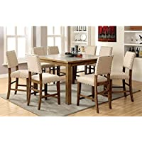 Furniture of America Kincade 9 Piece Counter Height Dining Table Set