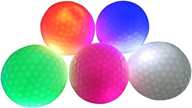 2 Pelotas de Golf con luz LED, tamaño Oficial, Brilla en la Oscuridad ...