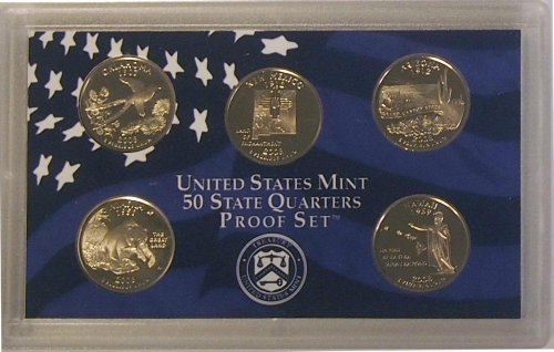 2008 S US Mint Quarters Proof Set OGP ()
