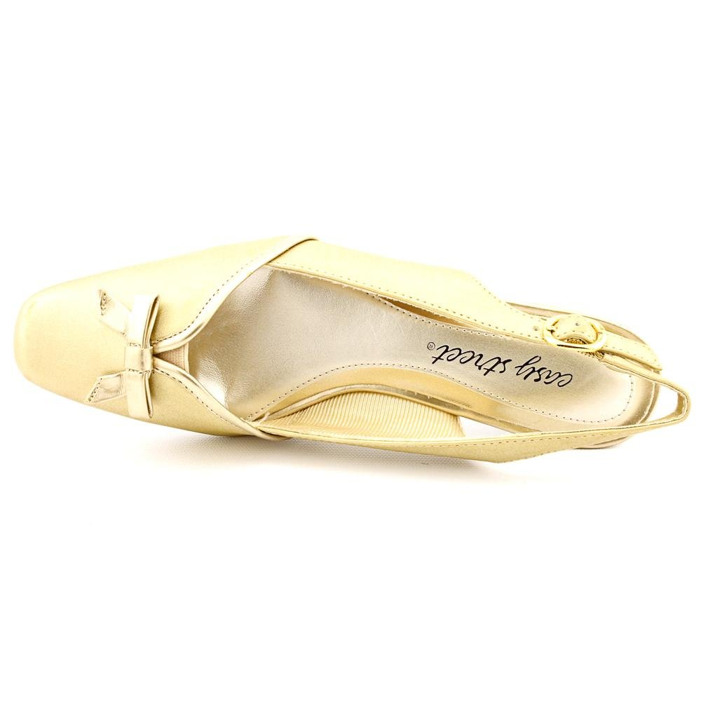 Easy Street Women's 9.5 Mercury Wedge Pump B003VY5W9G 9.5 Women's C/D US|Gold f22575