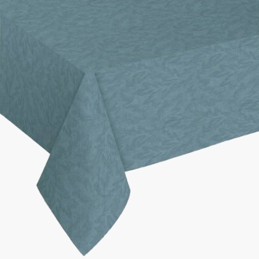 Everyday Luxuries Sonoma Damask Print Flannel Backed Vinyl Tablecloth, 52x90 Oblong (Rectangle).