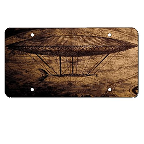 Price comparison product image Steampunk Orbis - Silver Aluminum Car Tag License Plate
