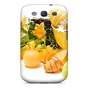 New Easter In Yellow Tpu Case Cover, Anti-scratch Mialisabblake Phone Case For Galaxy S3