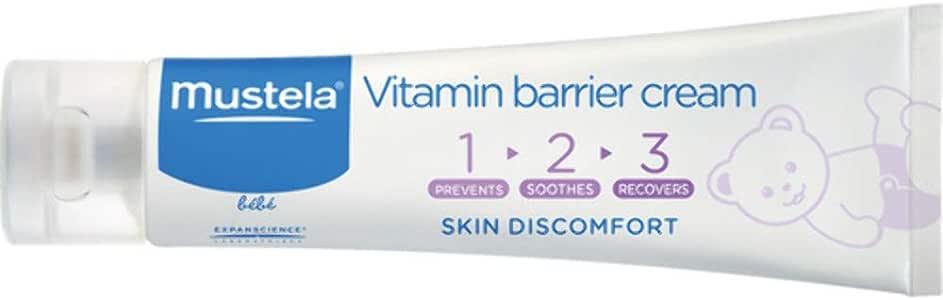 Mustela Vitamin Barrier Cream 123 - For Nappy Skin Discomfort, 100ml