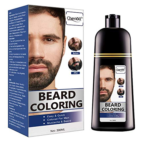 Beard Coloring, Darkening Beard Wash, Black Hair Dye and Shampoo, Gradually Colors Mustache and Beard, Easy & Quick…