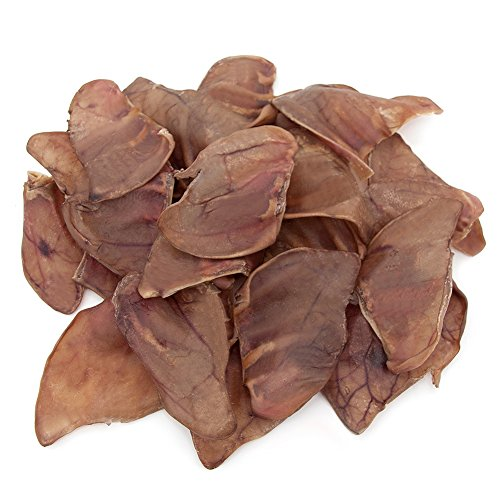 Gigabite USDA & FDA Certified Pig Ears For Dogs - All Natural Dog Treats- Dental Plaque Avoiding Dog Chews - Rich In Healthy Protein- Single Ingredient - 100% Additive-Free (Pack of 20)