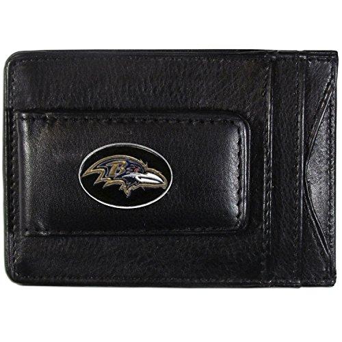 - NFL Baltimore Ravens Leather Money Clip Cardholder