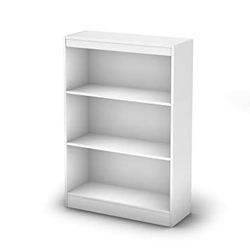 Amazon.com: South Shore Axess 5 Shelf Wall Bookcase In Pure White: Kitchen  U0026 Dining