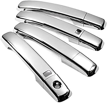 Chrome Handle Cover for 2004-2008 Nissan Maxima 4-Door //// 2007-2012 Nissan Altima 4-Door//2-Door //// 2007-2011 Nissan Sentra 4-Door //// 2005-2008 Nissan Frontier 4-Door //// 2004-2009 Nissan Quest 4-Door //// 2007-2011 Nissan Qashqai