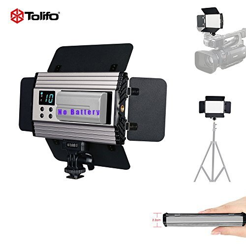 TOLIFO PT-15B PRO Portable 15W 3200-5600k BI-COLOR Remote Control Camera LED Video Light No Battery Dimmable Lighting for Studio Canon Nikon Sony Camcorder DSLR Baby Wedding Interview Picture Video by TOLIFO