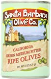 Santa Barbara Olive Co. California Green Medium Pitted Ripe Olives, 6 Ounce Tins (Pack of 12)
