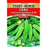 Ferry Morse Clemson Spineless Okra Seeds