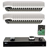 GW Security 32CH H.265 4K NVR 5-Megapixel (2592 x 1920) 4X Optical Zoom Network Plug & Play Video Security System, 32pcs 5MP 1920p 2.8-12mm Motorized Zoom POE Weatherproof Dome IP Cameras