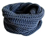 Frost Hats Chunky Infinity Cashmere Scarf CSH-INF1 Blue