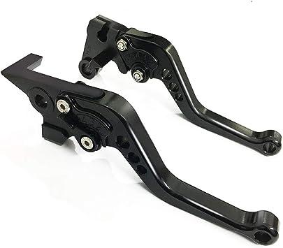 Short Brake Clutch Levers CNC Adjustable Aluminum for YAMAHA FZ1 FAZER 06-15,FZ8 11-15,FZ6R 09-15,FZ6 FAZER 04-10,XSR 700//900 ABS 16-17,MT-07 14-17,MT09//SR//FZ9 14-17,XJR DIVERSION SPL077