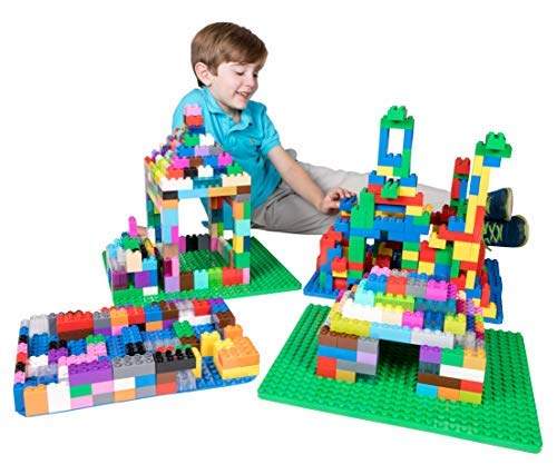 Strictly Briks Big Briks 32 Piece Blue 2x2 Building Brick Creative Play Set - 100% Compatible with All Large Block and Brick Brands - Ages 3 and Up