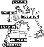 ARM BUSHING FRONT SUSPENSION - Febest # BZAB-042