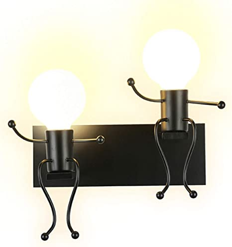 Dual-head Modern LED Small Wall Lamp Wall sconce Light Bedroom Bedside lighting