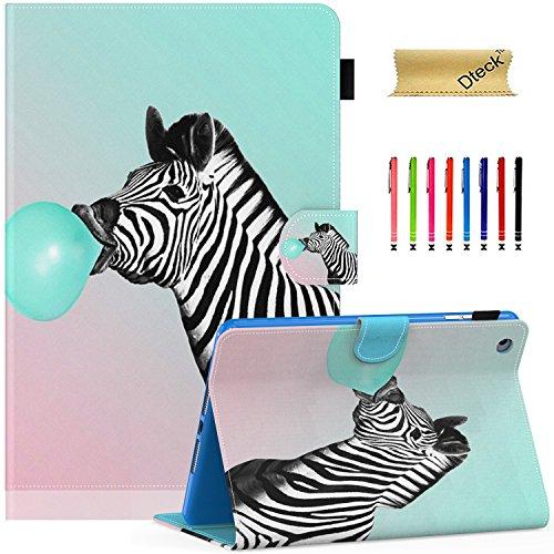 2/3/4 Case, Dteck Slim Fit Folio Stand [Stylus Slot] PU Leather Case with Auto Wake/Sleep Smart Magnetic Cover for Apple iPad Mini 4/Mini 3/Mini 2/Mini 1, Bubble Zebra (Case Cover Zebra)