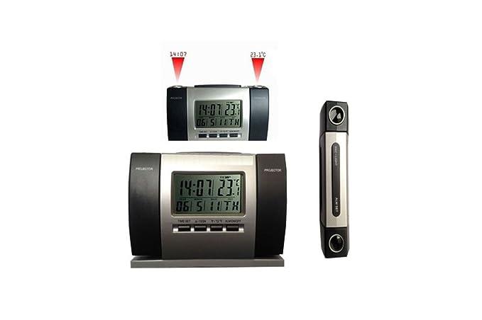 Despertador Reloj proyección hora Temperatura Pantalla LCD Data ...
