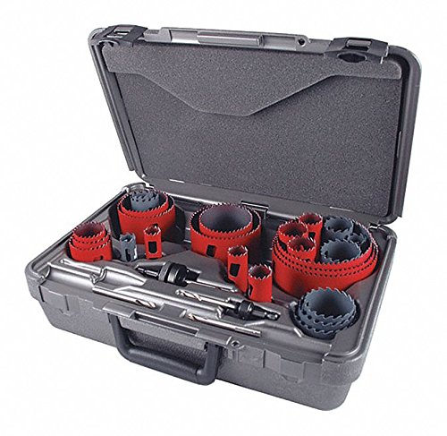 28-Piece Hole Saw Kit for Metal, Range of Saw Sizes: 3/4'' to 4-1/2''