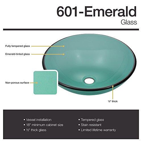 601 Emerald Brushed Nickel Waterfall Faucet Bathroom Ensemble