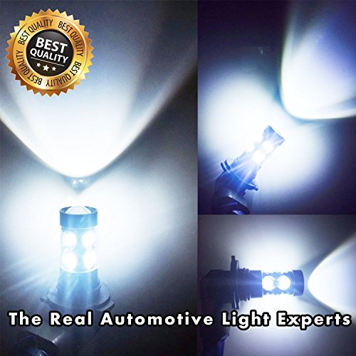 Led Fog Lights Bulbs White H10 9145 - Extremely Super Bright Fog Light Lamps Projector Replacement Kits for Trucks, Cars Plug and Play with 2200 Lumens Cree 50 Watt (Pack of 2), 2 Years (Projector Fog Light Lamp)