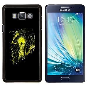 LECELL--Funda protectora / Cubierta / Piel For Samsung Galaxy A7 A7000 -- Amarillo tijera Mano --
