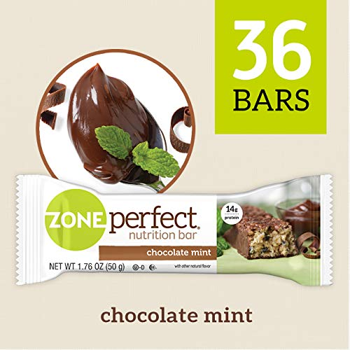 ZonePerfect Nutrition Snack Bars, Chocolate Mint, 1.76 oz, (36 Count)