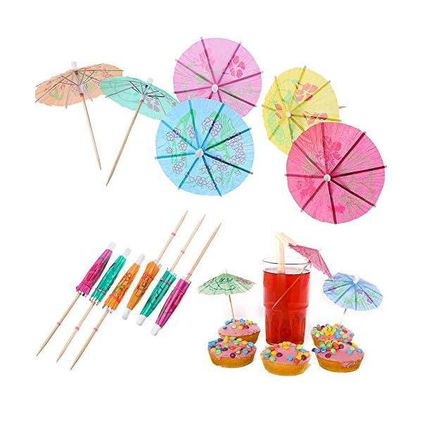 144 Pz Ombrelli da Cocktail, Bere Castoncini per Decorazione Cocktail, Beach Party, Decorazione, Accessori per Feste (6… 3 spesavip