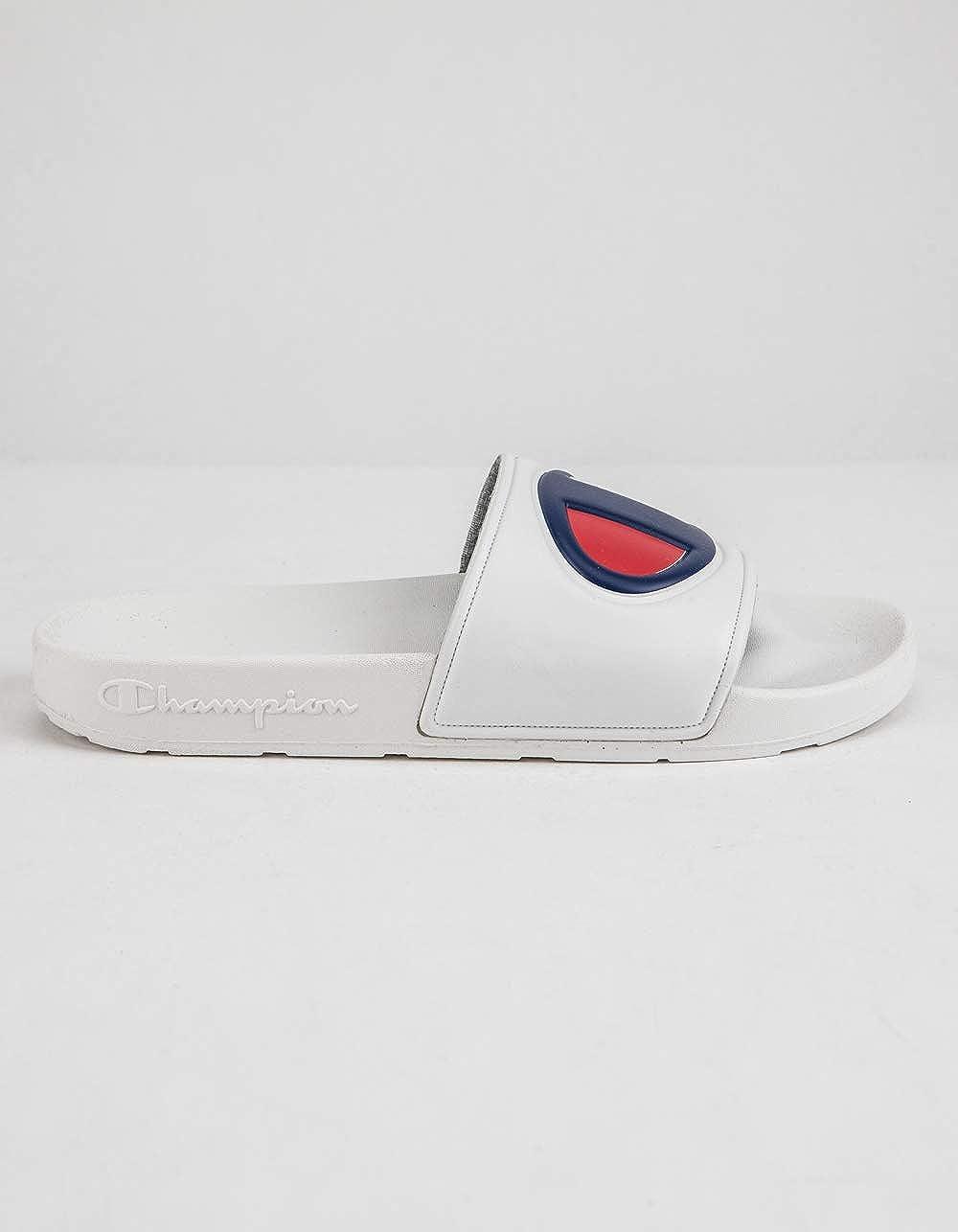 Champion Boys Kids Youth Ipo Big C Logo Slide Sandal 5, White White
