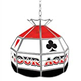 Four Aces Tiffany Gameroom Lamp, 16''