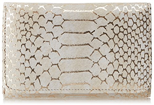 (HOBO Vintage Jill Leather Wallet, Gold Filigree Exotic, One Size)