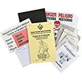 GEMPLER'S GR100 Worker Protection Standard WPS Pesticide Application Records Center, 1-1/2'' Yellow Binder and PVC Coated Steel Wall Rack