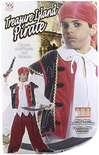 Children's Treasure Island Pirate Costume Small 5-7 Yrs (128cm) For Buccaneer -