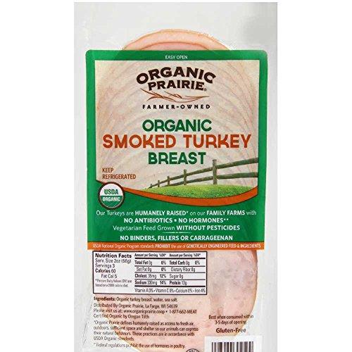 Organic Prairie Fresh Turkey Smoked Breast Slices, 6 Ounce -- 10 per case.